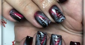новогодние идеи оформления ногтей - модный маникюр елочка