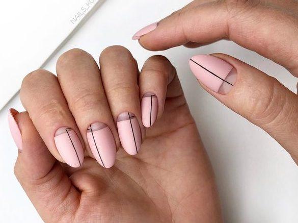 оформление стильного дизайна ногтей