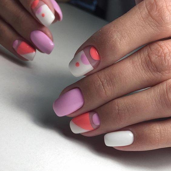 мода красота ногти