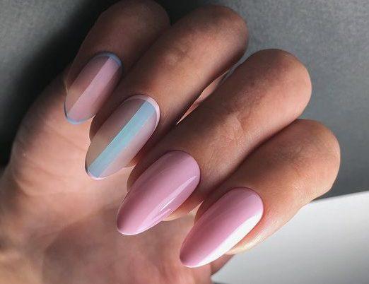 вертикальные полоски на ногтях