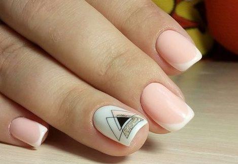 стильные ногти геометрия