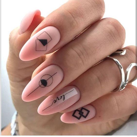 матовый маникюр идеи комбинированного дизайна ногтей