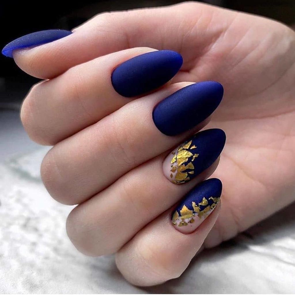 фольга на ногтях варианты ногтей