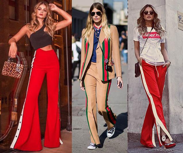 крутые брюки с лампасами модные тенденции 2021