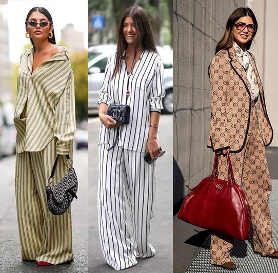пижамный стиль брюки брендовые костюмы 2021
